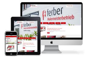 Bild: Malerbetrieb ferber mit neuer moderner Website online