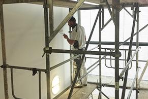 Bild: Renovierungsanstrich Treppenhaus